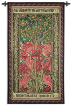 Woodpecker Red by William Morris | Arts and Crafts Style Woven Tapestry Wall Art Hanging | Rich Tintricate Acanthus Leaves among Birds | 100% Cotton USA Size 72x41 Wall Tapestry