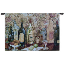 Bar with Pink Drink by Nicole Etienne | Woven Tapestry Wall Art Hanging | Vintage Alcohol Ensemble Still Life Lounge Decor | 100% Cotton USA Size 53x36 Wall Tapestry