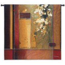 Fine Art Tapestries Summer Bloom Hand Finished European Style Jacquard Woven Wall Tapestry  USA Size 53x53 Wall Tapestry