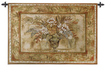 Tropical Bouquet By Vladykina - Woven Tapestry Wall Art Hanging - Terracotta Colors Enhance This Bouquet Of Tropical Flowers In Vase Centerpiece - 100% Cotton - USA 35X53 Wall Tapestry
