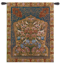 Tapestry Song | Woven Tapestry Wall Art Hanging | Intricate Weaving Flower and Bird Design | 100% Cotton USA Size 53x42 Wall Tapestry