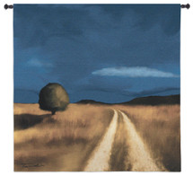 Way Home by Tandi Venter | Woven Tapestry Wall Art Hanging | Road Travelling through South African Field | 100% Cotton USA Size 53x53 Wall Tapestry