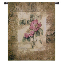 Fine Art Tapestries Blossoming Elegance Iii Hand Finished European Style Jacquard Woven Wall Tapestry USA 53X41 Wall Tapestry