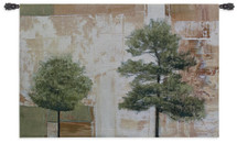 Parchment Trees I By Friedbert Renbaum   Woven Tapestry Wall Art Hanging   Abstract Landscape Pine Poplar Tree Warm Earth Tones   100% Cotton USA 36X53 Wall Tapestry