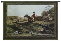 English Hunting Scenes IV by William Joseph Shayer | Woven Tapestry Wall Art Hanging | English Fox Hunt Vintage Decor | 100% Cotton USA Size 53x38 Wall Tapestry