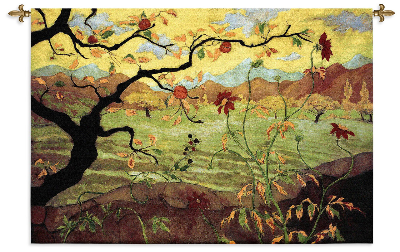 Merveilleux Apple Tree With Red Fruit By Paul Ranson   Woven Tapestry Wall Art Hanging  For Home Living Room U0026 Office Decor   Asian Influence Warm Colors Apple  Tree ...