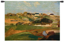 Landscape at Le Pouldu 1890 by Paul Gauguin | Woven Tapestry Wall Art Hanging | Breton Period Post-Impressionist Country Hills | 100% Cotton USA Size 53x40 Wall Tapestry
