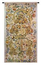 Summer Quince by William Morris | Arts and Crafts Style Woven Tapestry Wall Textile Art | Elaborate Tree Pattern | 100% Cotton USA Size 68x35 Wall Tapestry
