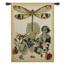 Lt Whimsical Dragonfly II | Woven Tapestry Wall Art Hanging | Delicate Tropical Symbol of Summer | 100% Cotton USA Size 53x39 Wall Tapestry