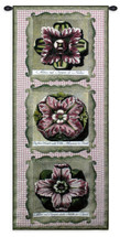 Haute Pink Medallion Tri Hand Finished European Style Jacquard Woven Wall Tapestry USA 53X26 Wall Tapestry