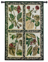 Fine Art Tapestries Floral Quad Hand Finished European Style Jacquard Woven Wall Tapestry  USA Size 53x35 Wall Tapestry