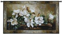 Gentle Giants by Fran Di Giacomo | Woven Tapestry Wall Art Hanging | Classic Blooming Magnolia Still Life | 100% Cotton USA Size 53x31 Wall Tapestry
