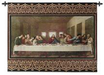 The Last Supper by Leonardo da Vinci | Woven Tapestry Wall Art Hanging | Religious Inspirational Jesus Last Supper | 100% Cotton USA Size 53x40 Wall Tapestry