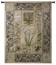 Music in the Garden   Woven Tapestry Wall Art Hanging   Beautiful Ornate Botanical Scrollwork   100% Cotton USA Size 53x40 Wall Tapestry