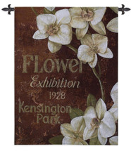 Kensington Exhibition | Woven Tapestry Wall Art Hanging | Vintage London Park Flower Show Ad | 100% Cotton USA Size 53x40 Wall Tapestry