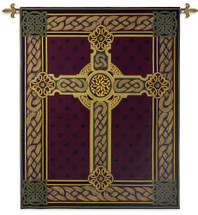 Celtic Irish Cross One Thousand Blessings | Woven Tapestry Wall Art Hanging | Celtic Tribal Knot Design | 100% Cotton USA Size 53x40 Wall Tapestry