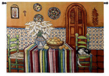 Fine Art Tapestries La Seista Hand Finished European Style Jacquard Woven Wall Tapestry  USA Size 40x53 Wall Tapestry