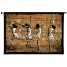Rejoice By Monica Stewart - Woven Tapestry Wall Art Hanging For Home Living Room & Office Decor - African American Festive Dancers - 100% Cotton - USA 35X52 Wall Tapestry