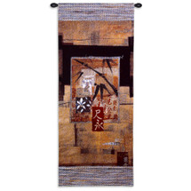 Fine Art Tapestries Bamboo Inspiration II Hand Finished European Style Jacquard Woven Wall Tapestry  USA Size 52x23 Wall Tapestry