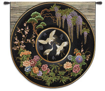Cloisonne Jet Wall Tapestry Wall Tapestry