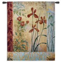 Bedazzle by John Zaccheo | Woven Tapestry Wall Art Hanging | Abstract Transitional Floral Contemporary Artwork | 100% Cotton USA Size 53x42 Wall Tapestry