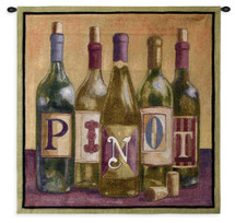 Fine Art Tapestries Pinot Hand Finished European Style Jacquard Woven Wall Tapestry USA 36X35 Wall Tapestry