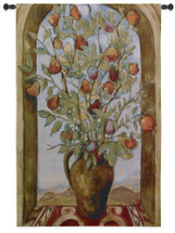 Bouquet of Figs | Woven Tapestry Wall Art Hanging | Impressionist Tree Still Life Overlooking Mountain Landscape | 100% Cotton USA Size 53x36 Wall Tapestry