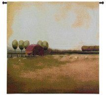 Rural Landscape II by Tandi Venter   Woven Tapestry Wall Art Hanging   Rich Rustic Farm Field Landscape   100% Cotton USA Size 53x53 Wall Tapestry