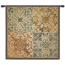 Wrought Iron Elegance - A Beautiful Geometric Wall Tapestry Depicts Four Delicate Ironwork Motifs - Woven Tapestry Wall Art Hanging - 100% Cotton - USA Wall Tapestry