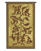 Acanthus Vine by William Morris | Woven Tapestry Wall Art Hanging | Thrush Birds Stealing Fruit Intricate Floral Design | 100% Cotton USA Size 42x25 Wall Tapestry