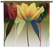 Tulip By Robert Mertens - Woven Tapestry Wall Art Hanging For Home Living Room & Office Decor - Multicolor Floral Botanical Themed Artwork - 100% Cotton - USA 51X51 Wall Tapestry