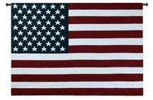 American Flag - Woven Tapestry Wall Art Hanging For Home Living Room & Office Decor - Old Glory Red White And Blue Patriotic USA & Star Spangled Banner Inspiration - 100% Cotton - USA Wall Tapestry