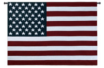 American Flag | Woven Tapestry Wall Art Hanging | Patriotic Star Spangled Banner Tapestry | 100% Cotton USA Size 53x38 Wall Tapestry