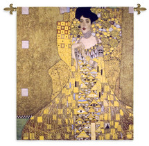 Adele Bloch-Bauer by Gustav Klimt | Woven Tapestry Wall Art Hanging | Woman in Gold Austrian | 100% Cotton USA Size 58x52 Wall Tapestry
