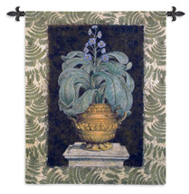 Fine Art Tapestries Tropical Urn I Hand Finished European Style Jacquard Woven Wall Tapestry USA 53X42 Wall Tapestry
