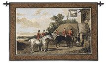 English Hunting Scenes Returning Home from the Hunt by William Joseph Shayer | Woven Tapestry Wall Art Hanging | English Fox Hunt Vintage Decor | 100% Cotton USA Size 52x35 Wall Tapestry