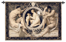 Idylle | Woven Tapestry Wall Art Hanging | Greek Inspired Statuesque Artwork | 100% Cotton USA Size 53x44 Wall Tapestry