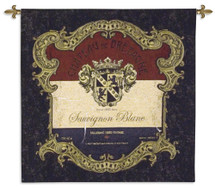 Chateau de Bretagne | Woven Tapestry Wall Art Hanging | Vintage Decorative French Wine Label | 100% Cotton USA Size 34x34 Wall Tapestry