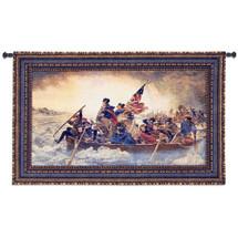 Washington Crossing Delaware by Emanuel Leutze | Woven Tapestry Wall Art Hanging | Revolutionary War Battle of Trenton | 100% Cotton USA Size 53x32 Wall Tapestry