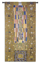 Stoclet Frieze Knight by Gustav Klimt - Stoclet Frieze Series | Woven Tapestry Wall Art Hanging | Geometric Shapes Lush Color Palette Masterpiece | 100% Cotton USA Size 52x28 Wall Tapestry