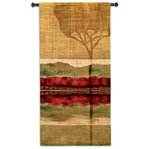 Autumn Collage II | Woven Tapestry Wall Art Hanging | Abstract Reflective African Nature Geometry | 100% Cotton USA Size 51x26 Wall Tapestry