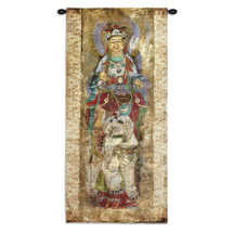 Fine Art Tapestries Lotus I Hand Finished European Style Jacquard Woven Wall Tapestry USA 50X24 Wall Tapestry