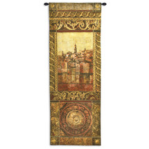 New Enchantment II by John Douglas | Woven Tapestry Wall Art Hanging | Rich Elaborate Mediterranean Seascape Villa | 100% Cotton USA Size 69x25 Wall Tapestry