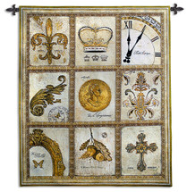 Nobility by Arnie Fisk | Woven Tapestry Wall Art Hanging | Intricate Golden Regal Imagery Panels | 100% Cotton USA Size 60x53 Wall Tapestry