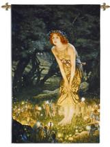 Midsummer Eve By Edward Robert Hughes - Woven Tapestry Wall Art Hanging - Fantasy Pixie Faire Pre-Raphaelite Children Fairytale Artwork - 100% Cotton - USA 52X34 Wall Tapestry
