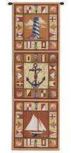 Harbor Icons by Geoff Allen | Woven Tapestry Wall Art Hanging | Vertical Nautical Panels Children's Room Decor | 100% Cotton USA Size 48x17 Wall Tapestry