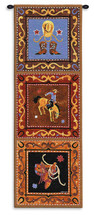 Cowboy By Jennifer Brinley - Woven Tapestry Wall Art Hanging For Home Living Room & Office Decor - Cowboy Western South West Panels Featuring Bucking Bronco Boots Spurs - 100% Cotton - USA 48X17 Wall Tapestry
