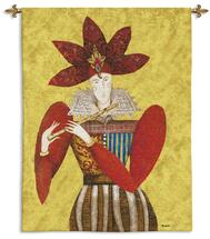 El Sol y la Luna I | Woven Tapestry Wall Art Hanging | Stylistic Spanish Royal Musician in Rich Tones | 100% Cotton USA Size 51x38 Wall Tapestry