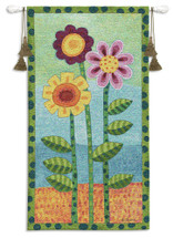 Long Stem Floral II Wall Tapestry Wall Tapestry