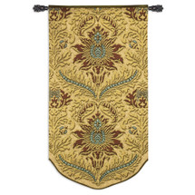 Silk Road Turquoise | Woven Tapestry Wall Art Hanging | Intricate Floral Poppy Damask Pattern | 100% Cotton USA Size 64x35 Wall Tapestry